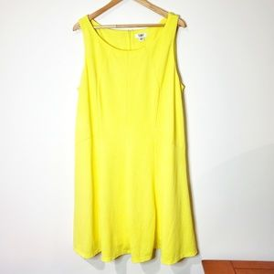 CATO Woman Yellow Sheath Dress Size 22/24WP
